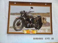 CARTE FICHE MOTO 1939 BSA WD M20