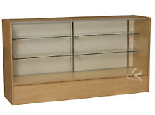 1.8M long Maple Timber Full Vision Showcase Display Cabinet Counter SC6M