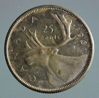 1961 Canada quarter - this 25 cent coin is 80% silver