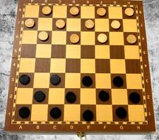 Schachbrett Dame Backgammon 3in1 Brettspiel Set Spielesammlung Holz Schachspiel