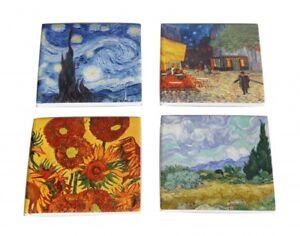 4pc Van Gogh Ceramic Coasters Set Drink Coasters Ceremic Chinaware Gift