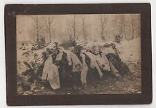 1890s FRESH GRAVE Cabinet Photo CEMETERY Winthers MACABRE Morbid DEATH Scarves
