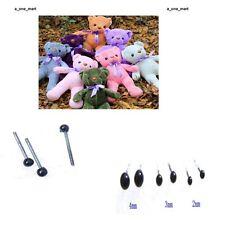 150Pair Glasaugen 2/3/4mm Schwarz Bären nähen Tieraugen zum Teddybären Tierpuppe