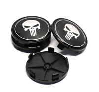 68mm x4 Punisher Radkappen Nabenkappen Nabendeckel Felgendeckel Stück Emblem Aut