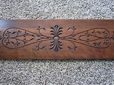 Ornate Victorian Walnut Cabinet Panel Eastlake Spoon Carved Furniture Pediment
