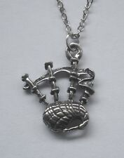 Chain Necklace #2319 Pewter BAGPIPES (19mm x 16mm) MUSICAL INSTRUMENT