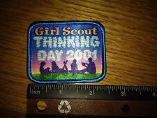 "Girl Scout Thinking Day 2001 Patch - 2"" - New - QTY 1"