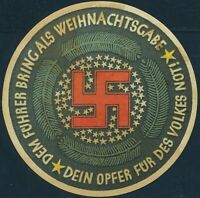 Stamp Germany Revenue WWII Fascism War Era Winterhilfswerk Charity 03 MNG