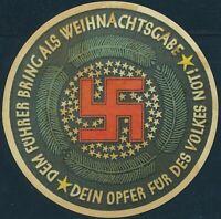 Stamp Germany Revenue WWII Fascism War Era Winterhilfswerk Charity 03 MNG