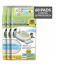 Purina Tidy Cats Breeze Spring Clean Pads Refill Pack (6) 10 Count = 60 Total