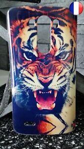 Coque Plastique Souple Housse Etui LG G3 Tigre Félin Lion Léopard Tiger