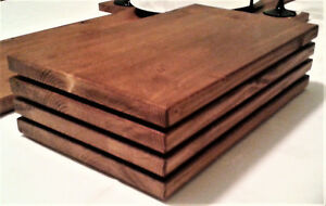 SOLID WOODEN PLACEMATS - 5 COLOURS - NATURAL PINE MAHOGANY & OAK
