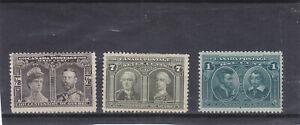1908, Canada, royality, Mi 75-76, 79, MNH