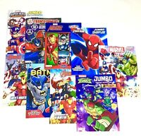 MARVEL AVENGERS JUMBO COLORING & ACTIVITY BOOK LOT OF 3 Mixed Assorted