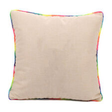 10pcs Linen Sublimation Blank Pillow Case Cushion Cover with Colorful Rim