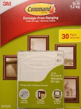 Command Damage Free Picture and Frame Hanging, Large Strips 30 Pairs