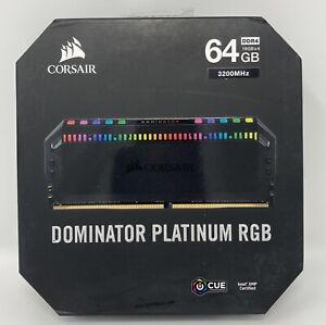 CORSAIR - DOMINATOR PLATINUM RGB 64GB (4x16GB) 3200 MHz DDR4 C16 Desktop Memory
