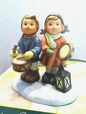 "Berta Hummel #301258 ""Drumming for Joy� Bh 58 Boy and girl drumming 1998 Nib"
