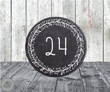 24 runde Aufkleber 40 mm / Zahlen 1-24 / Adventskalender / Weihnachten / DIY