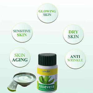 Aloe Vera 60 Capsule 500mg High Strength Colon Cleanse Skin Care Natural Detox