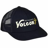 Volcom Men's Rambler Cheese Snapback Hat Navy Blue Headwear Baseball Cap