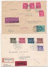 * 1942?/45  2 x CZECHOSLOVAKIA & HUNGARY COVERS SENT EXPRESS CENSORS WW2