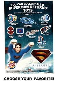 Burger King 2006 DC Superman Returns Movie Figure Toys-Choose Your Favorite!