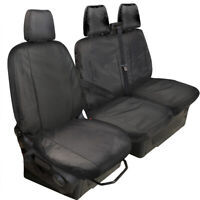 FORD TRANSIT CUSTOM FULLY TAILORED 2013 on HEAVY DUTY VAN SEAT COVERS BLACK
