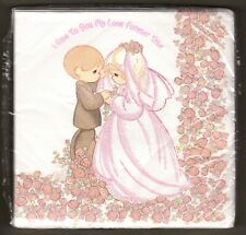Precious Moments Wedding Napkins Love Forever True 16 Count Large 3 Ply Floral