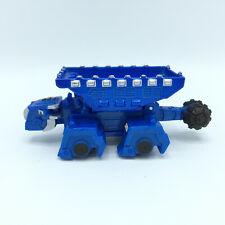 "2015 Mattel Dinotrux Ton-Ton Diecast Metal Dump Truck Blue Dinosaur 4"""