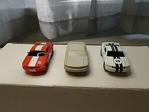 NEW LIFE-LIKE FORD MUSTANGS SET OF (3) 1/64 SCALE SLOT CARS ALL NEW