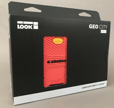 "LOOK Geo City Grip Mountain MTB Bike Pedals Platform 9/16"" Red Double Sided NIB"