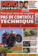 MOTO JOURNAL 1796 Road Test TRIUMPH 1050 Speed Triple KAWASAKI ZX-10 APRILIA 850