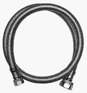 """Water Supply Line Connector 30"""" Long x 3/8"""" Comp. x 1/2"""" Stainless Steel"""
