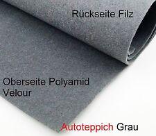 Autoteppich Velour Grau Leicht  Meterware Oldtimer Wohnmobil Kofferraum A-Ware