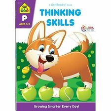 School Zone - Thinking Skills Workbook - 64 Pages, Ages 3 to 5, Preschool to Kin