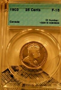1903 Canada 25 Cent - Fine Fifteen - CCCS