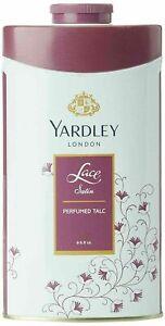 Yardley London Lace Satin Perfumed Talcum Powder 100gm / 8.8oz Deodorizing Talc