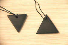 Top shungite pendant energy triangles from Russia emf protection chakra S021
