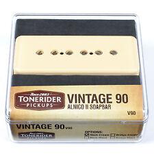 Tonerider Pickups P90: Vintage 90 Alnico II Soapbar Guitar Pickup (Neck, Cream)