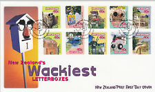 FDC - 1997-03-19:  New Zealand's Wackiest Letterboxes