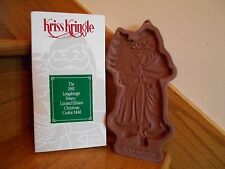 Longaberger Kriss Kringle Cookie Mold + recipe Christmas 1991 *free shipping!*
