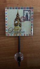 London Themed Big Ben Heavy Plastic Coat Jacket Hanger Hook Home Decor