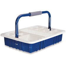"""Blue Phlebotomy Tray with 13mm Tube Rack  16.5""""L x 11.5""""W x 9.5""""H 1 ea"""