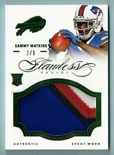 SAMMY WATKINS 2014 PANINI IMPECABLE RC 4 COLOR JUMBO con parche / 5 Cuentas