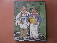 Print on Canvas by Joanna; Two Waiters with Martini and Cigar Box