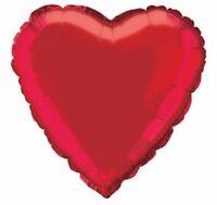 St.Valentin Rouge en Forme de Cœur 45.7cm Ballon Plat Amour Mariage Fête