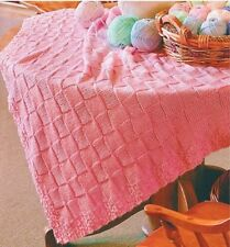 Baby Knitting Pattern Copy Gorgeous  Aran BLANKET ~  Easy Knitting