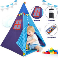 Portable Canvas Children Indian Tent Teepee Play Sleeping Indoor Outdoor Camping