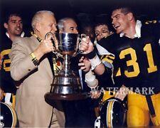 1986 Cfl Hamilton Tiger Cats Grey Cup Harold Ballard & Ben Zambiasi 8 X 10 Photo